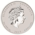 5 Unzen Silber Lunar Hahn 2017