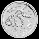 1 Unze Silber Lunar 2013 Schlange Privy Mark Löwe