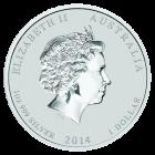 Rückseite der 1 Unze Silbermünze Australien Lunar 2014 Pferd Privy Mark | Rückseite 1 Unze Silbermünze Australien Lunar 2014 Pferd Privy Mark von The Perth Mint Australia