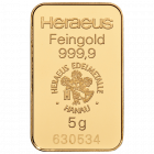 Goldbarren 5 Gramm von Heraeus, Umicore oder Degussa | Goldbarren 5 Gramm von den Herstellern Heraeus, Umicore oder Degussa