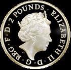 1 Unze Silber Britannia Proof Rückseite
