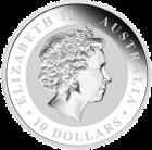 Rückseite der10 Unzen Silber Kookaburra Australien Münze von The Perth Mint | Rückseite der 10 Unzen Silber Kookaburra Australien Münze von The Perth Mint