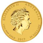 1/2 Unze Gold Lunar Hahn 2017