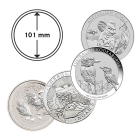 Münzkapsel 101 mm Koala, Kookaburra, Arche Noah, Lunar
