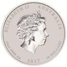 10 Unzen Silber Lunar Hahn 2017