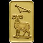 1 g Goldbarren Sternzeichen Widder