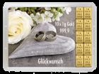 10 g Gold Geschenkkarte Glückwunsch zur Hochzeit