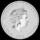 5 Unzen Silber Lunar II Hund 2018