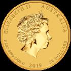 1/2 Unze Gold Lunar II Schwein 2019