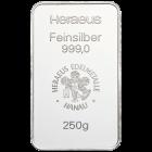250 Gramm Silberbarren vom Hersteller Umicore |  250g Silberbarren von Umicore