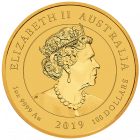 1 Unze Gold Australien Dragon & Tiger 2019