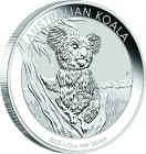 1/2 Unze Silber Australian Koala 2015
