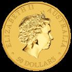 Rückseite der Kängurumünze 1/2 Unze Gold Australien | Rückseite der Kängurumünze 1/2 Unze Gold der Perth Mint Australia