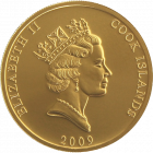 1 Unze Gold Cook Islands | Rückseite Cook Islands Goldmünze 1 Unze von Heimerle + Meule