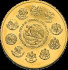 1 Unze Gold Mexiko Libertad | Rückseite der Goldmünze 1 Unze Libertad Mexico der Casa de Monada de México