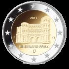 2 Euro Münze Rheinland Pfalz - Porta Nigra 2017