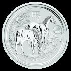 1 Unze Silber Lunar Pferd 2014 Privy Mark