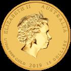 1/10 Unze Gold Lunar II Schwein 2019