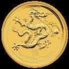 Vorderseite der 1 Unze Goldmünze Australien Lunar | Vorderseite Goldmünze 1 Unze Australien Lunar von The Perth Mint Australia