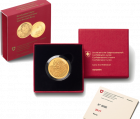 50 Fr. Gold Bernhardiner Barry 2017 Proof-Qualität