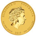 2 Unzen Gold Lunar Hahn 2017