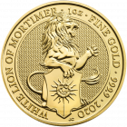 1 Unze Gold The Queen´s Beasts - White Lion of Mortimer 2020