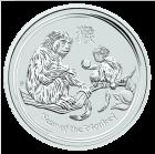 2 Unzen Silber Lunar Affe 2016