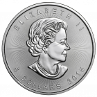 Rückseite der 1 Unze Silbermünze Maple Leaf | Rückseite Silbermünze 1 Unze Maple Leaf von The Royal Canadian Mint