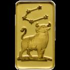 1 g Goldbarren Sternzeichen Stier