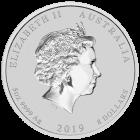 5 Unzen Silber Lunar II Schwein 2019