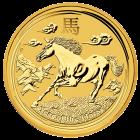 1 Unze Gold Lunar Pferd 2014