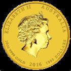 10 Unzen Gold Lunar Affe 2016