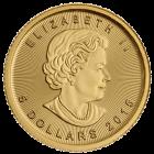 Vorderseite der 1/10 Unze Goldmünze Maple Leaf | Rückseite Goldmünze 1/10 Unze Maple Leaf von The Royal Canadian Mint