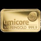 50g Goldbarren von Umicore oder Heraeus | Goldbarren 50g von Umicore oder Heraeus