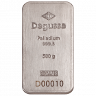 500 gr. Palladiumbarren