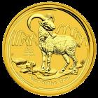 10 Unzen Gold Lunar Ziege 2015