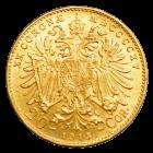 6,775 g Gold Österreich 20 Kronen | Vorderseite der Goldmünze 6,775 g Österreich 20 Kronen der Münze Österreich