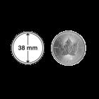 Münzkapsel 38 mm für 1 oz Silber Maple Leaf, Kanada Puma, Eule