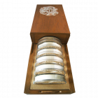 Holzbox 1 kg Silber Armenien Arche Noah  | Holzbox der Arche Noah Silbermünze Armenien