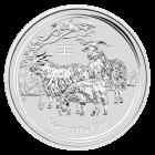 1/2 Unze Silber Lunar Ziege 2015