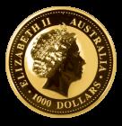 Rückseite 10 Unzen Gold Australien Känguru | Rückseite Goldmünze 10 oz Australian Kangaroo der Perth Mint Australia
