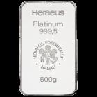 500 gr. Platinbarren