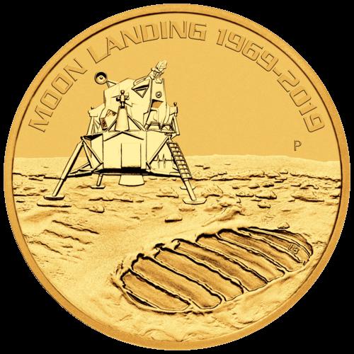 1 Unze Gold 50 Jahre Mondlandung 2019