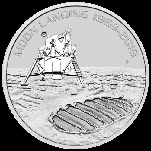 1 Unze Silber 50 Jahre Mondlandung 2019