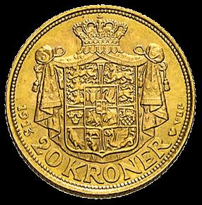 8,06 g Gold 20 Kronen Dänemark diverse Jahrgänge