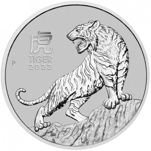 1 Unze Platin Lunar III Tiger 2022
