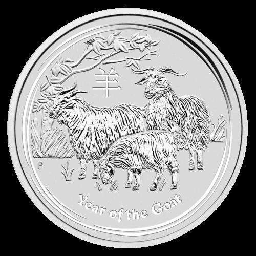 1 kg Silber Lunar II Ziege 2015