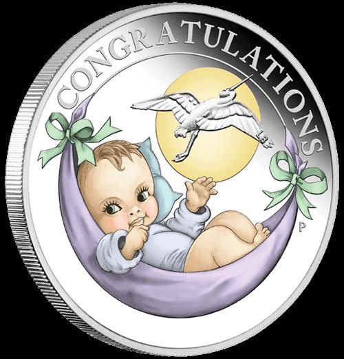 Silber New Born Baby 2019 Proof-Qualität