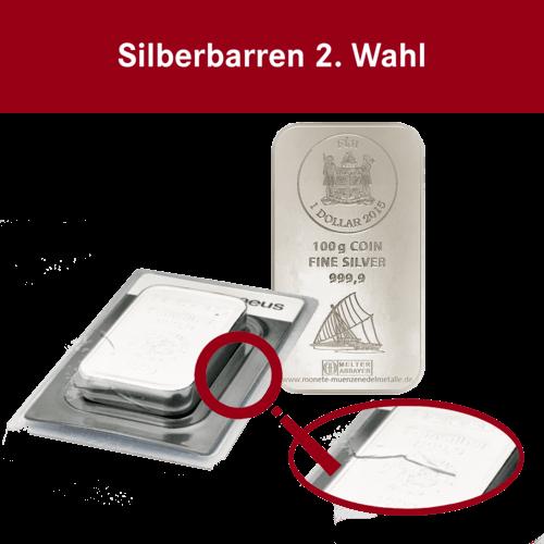 100g Silbermünzbarren Fiji 2. Wahl