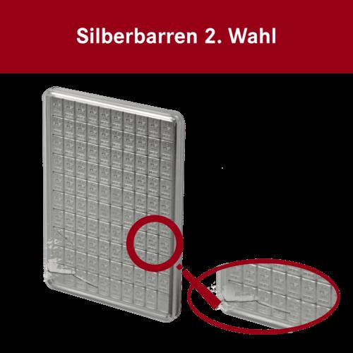100 x 1g Combibar Silbertafel | Silbertafel 100x1g Combibar von Valcambi 2. Wahl